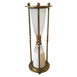 Brass Sand Timer Side Table