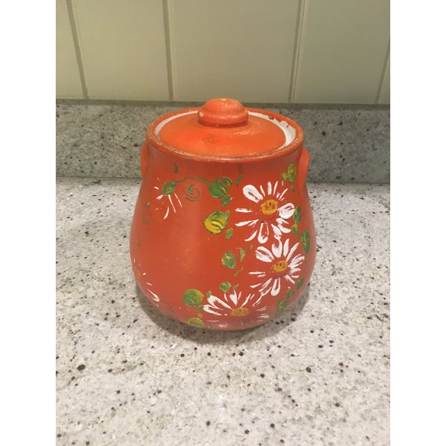 Orange Floral Cookie Jar - Image 2 of 8