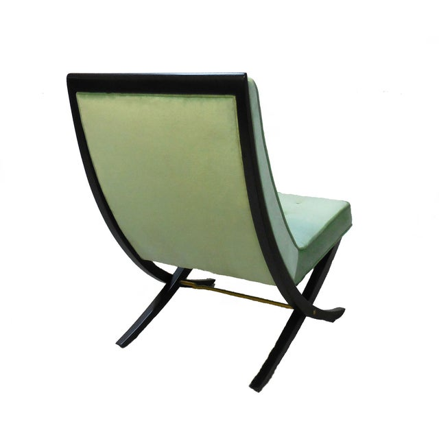 Green Lounge Chairs by Directional - Pair - Image 3 of 4