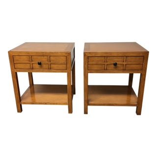 Crate & Barrel by Maria Yee Bamboo Side Tables - A Pair