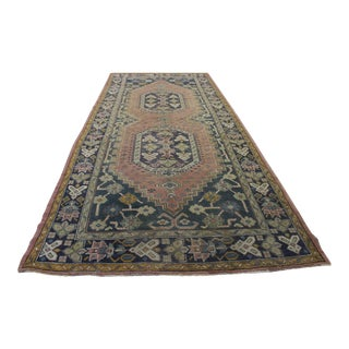 "Traditional Turki̇sh Wool Rug - 5'2"" x 12'2"""