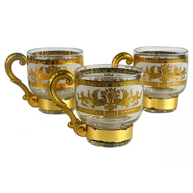 Image of Italian Golden Pitcher & Three Mugs
