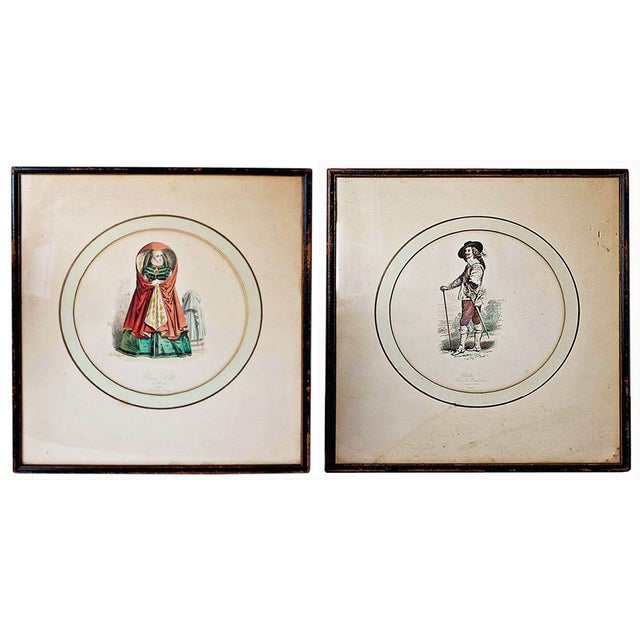 Image of Vintage French Illustration Prints - A Pair