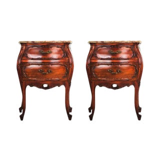 Bombay Serpentine Style Side Tables - A Pair