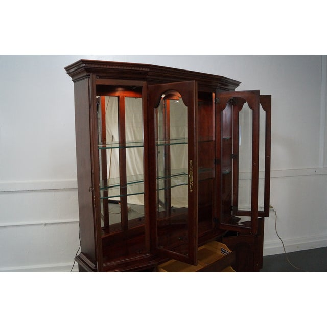 Pennsylvania House Solid Cherry China Cabinet - Image 7 of 10