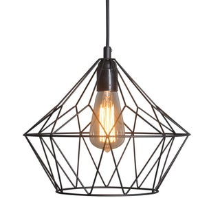 Vintage Industrial Cage Iron Pendant Light