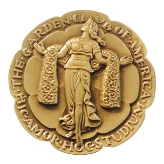 Commemorative Garden Club Bronze Medallion