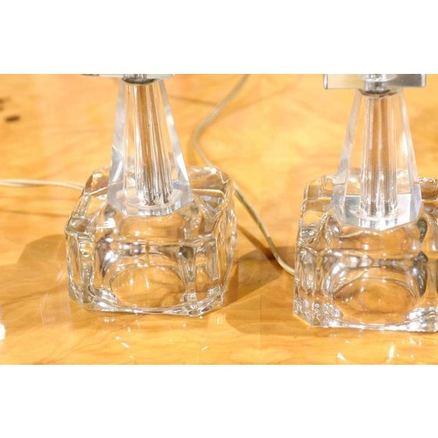 Art Deco Petite Crystal and Glass Lamps - Image 2 of 6