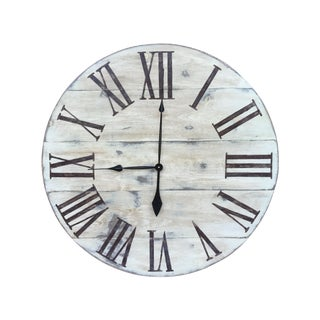 Vintage Style Painted Wood Wall Hanging Clock