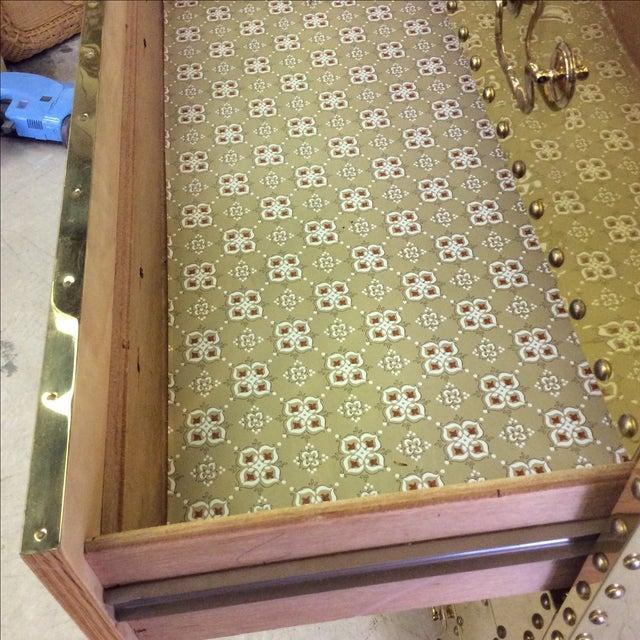 Sarreid Brass Chest Of Drawers Chairish