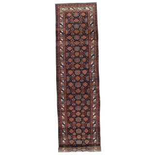 "Pasargad NY Antique Persian Hamadan Hand Knotted Wool & Cotton Rug - 3'5""x17'"
