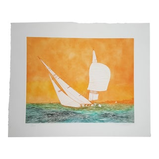 Sails Ii, by Paul Geygan (1935 -2000) Signed Lithograph