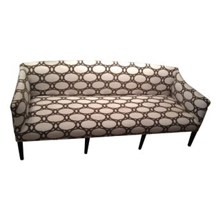 Square Cut Wooden Leg Upholstered Sofa
