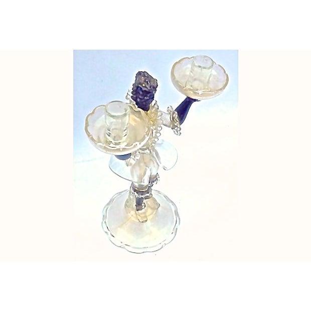Image of Barovier Toso Vintage Venetian Glass Candleholder