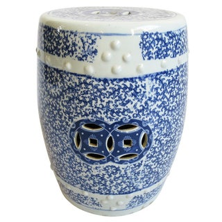 Blue & White Ceramic Side Table