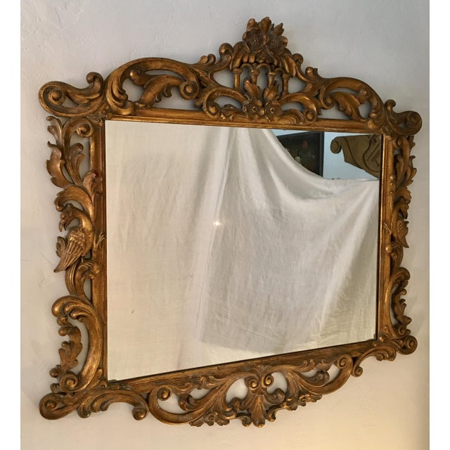 Gilt Finish Carved Italian Mirror - Image 2 of 11