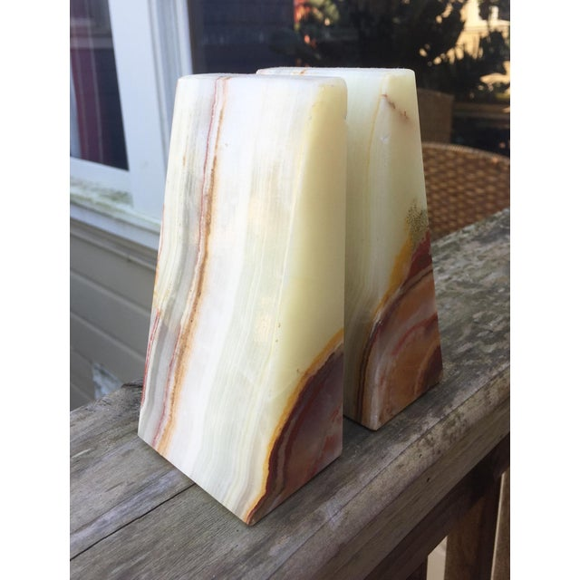 Modern Onyx Bookends - A Pair - Image 3 of 7