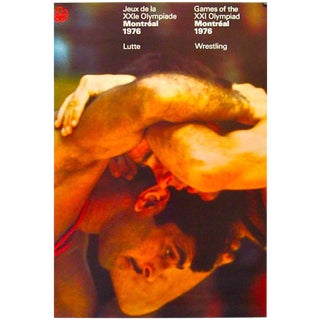 1976 Montreal Olympic Wrestling Poster