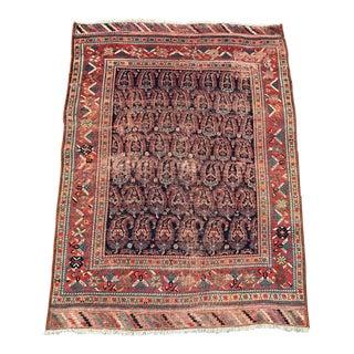 "Antique Persian Shiraz Rug - 4'2"" x 5'8"""