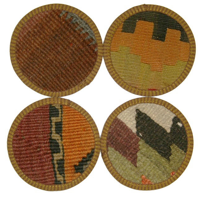 Turkish Kilim Coasters, İzmir - Set of Four - Image 1 of 2