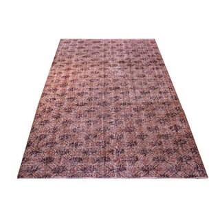 Vintage Handmade Faded Overdyed Rug - 5′4″ × 8′