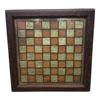Framed American Games Board Circa 1860