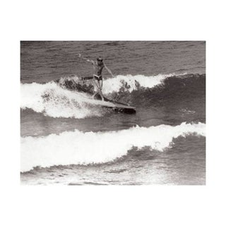 Black & White Vintage Surfer Photo II
