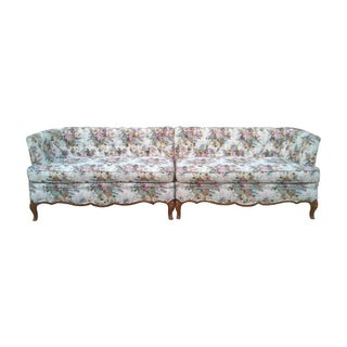 French Tufted Sectional Sofa