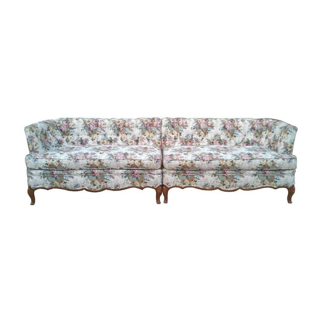 French Tufted Sectional Sofa Chairish