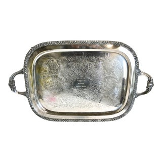 Vintage Silver Plate Footed Butler's Tray