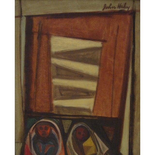 """John Haley """"Navajos at Gallup"""" 1947 Painting - Image 4 of 7"""