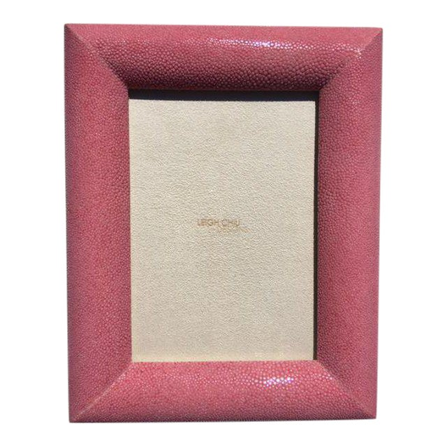 Rose Shagreen Picture Frame - Image 1 of 6