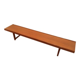 Bruksbo Møbler Long Low Krobo Teak Bench / Coffee Table
