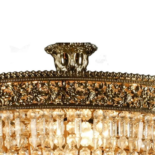 Italian Cut Crystal & Gilt Bronze Chandelier - Image 2 of 3