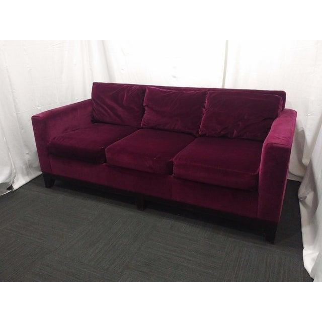 Eggplant Microfiber Velvet Sofa Chairish