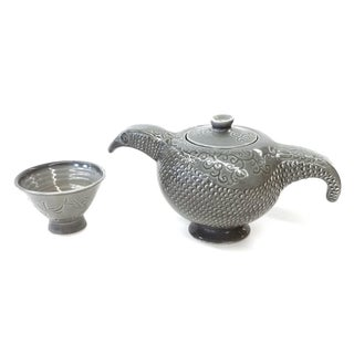 Hand Thrown Tea Pot & Sake Cup