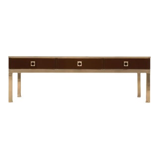 Modern Guy Lefevre for Maison Jansen 3 Drawer Coffee Table