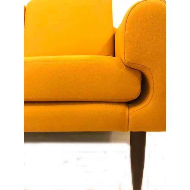 Yellow Mid-Century Modern Couch - Image 3 of 8