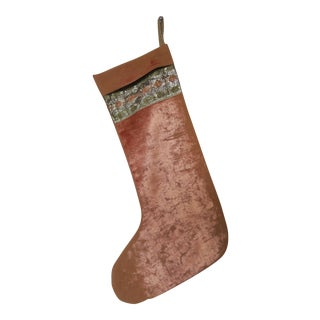 Vintage Velvet Christmas Stocking