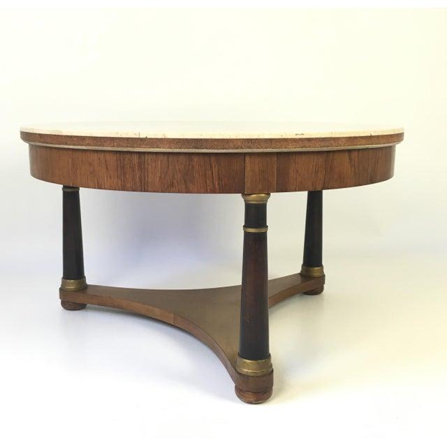 Hollywood Regency Marble Top Coffee Table - Image 5 of 9