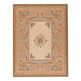 """Pasargad Aubusson Hand Woven Wool Rug - 7'11"""" x 10' 5"""""""