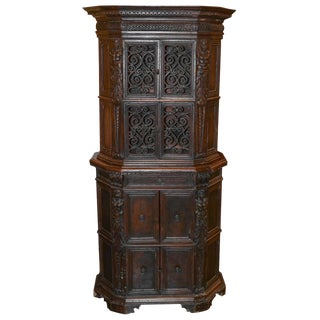 19th C. Italian Carved Walnut Cupboard