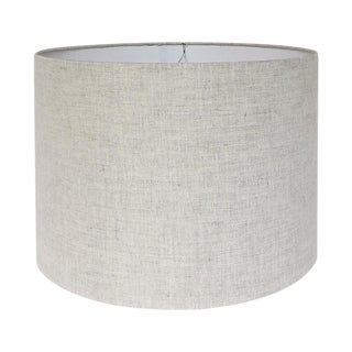 New, Made to Order, Natural Linen, Medium Drum Shade