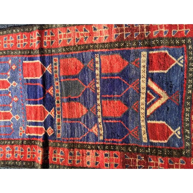 "Vintage Persian Mehebad Small Area Rug - 2'7""x4'3"" - Image 3 of 9"