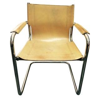Tubular Chrome Cantilever Chairs - A Pair