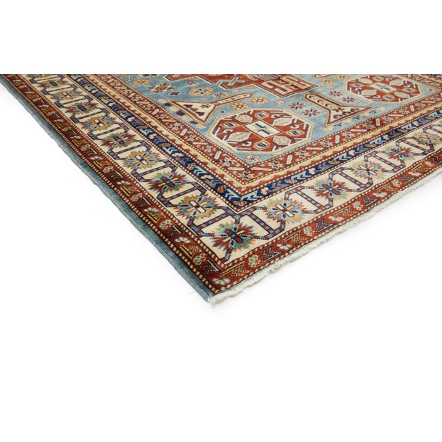"""Traditional Hand Knotted Area Rug - 5'5"""" X 7' - Image 2 of 3"""
