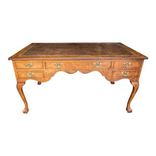 Vintage Ball & Claw Foot Partner Desk
