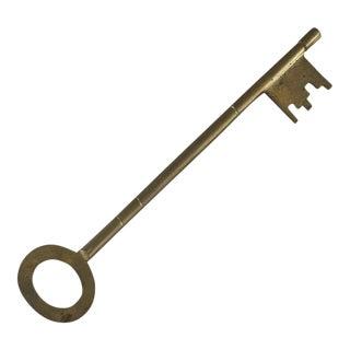 Vintage Brass Oversized Brass Key