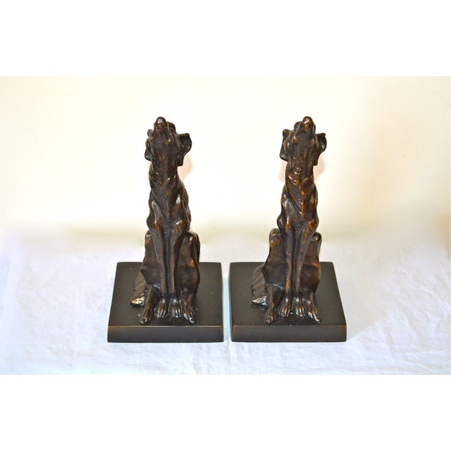 JB Hirsch 1925 Le Loup 'The Wolf' Bookends - 2 - Image 6 of 11