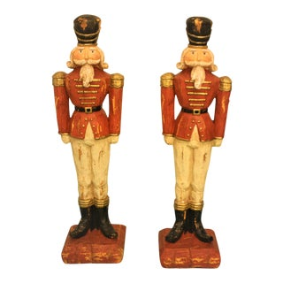 Wooden Toy Soldiers - A Pair